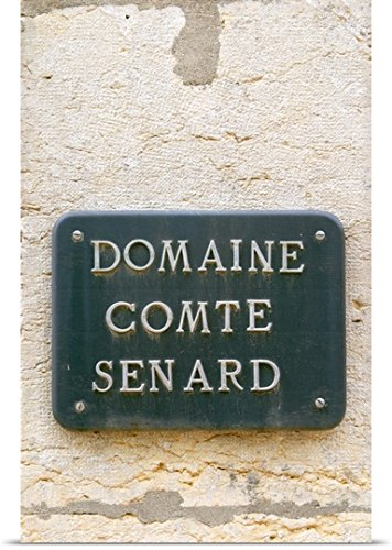 Sign at Domaine Comte Senard in Aloxe-Corton, Bourgogne, France by Per Karlsson