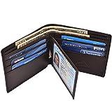 Hopsooken Genuine Leather wallets for Men Bifold Wallet Italian Cowhide (Coffe (MID))