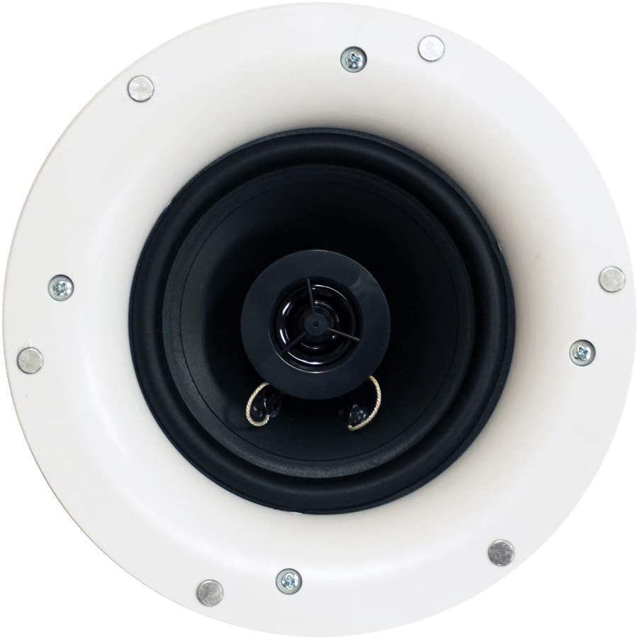 Acoustic Audio R192 Frameless in Ceiling//in Wall Speaker Pair 2 Way Home Theater Surround Speakers