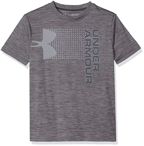 Under Armour Kids Boy's Crossfade Tee (Big Kids) Black/Steel/Stealth Gray X-Small by Under Armour (Image #1)