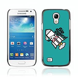 Designer Depo Hard Protection Case for Samsung Galaxy S4 Mini / UP Yours Message