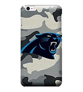 iPhone 6 Plus Case, NFL - Carolina Panthers Camo - iPhone 6 Plus Case - High Quality PC Case