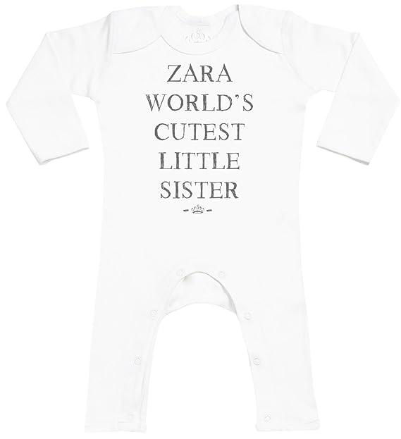 Personalizados bebé Name Worlds Cutest Sister Footless - personalizados peleles para bebé - peleles para bebé