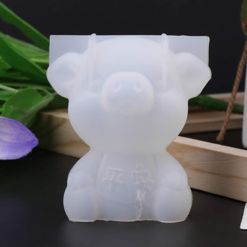 Kcibyvx Moule en Silicone en Forme de Cochon en Forme de Cochon en 3D Solide