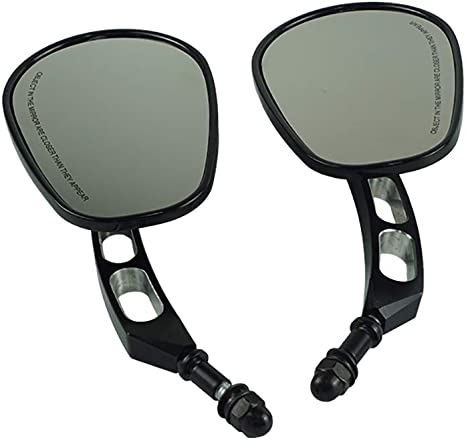 Nero 8mm Moto Specchietti Laterali per Sportster XL883 1200 Dyna Fat Boy Softail Road Glide
