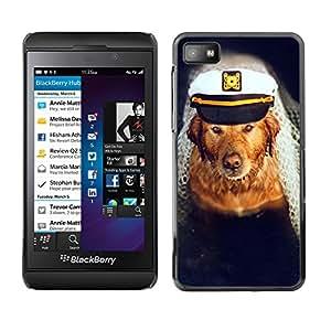 Vortex Accessory Carcasa Protectora Para Blackberry Z10 - Golden Retriever Captain Dog Sea Boat -