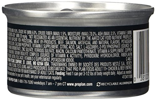 Purina Pro Plan Npu13887 Canned Chicken And Beef Food, 3 Oz(Pack Of 24)