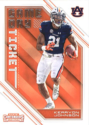 Tickets Football Tigers (2018 Panini Contenders Draft Picks Game Day Tickets #29 Kerryon Johnson Auburn Tigers Football Card)
