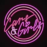 iecool Cars & Girls Neon Sign 18''x18'' Real Glass Bright Neon Light for Drive in Bar Restaurant Beer