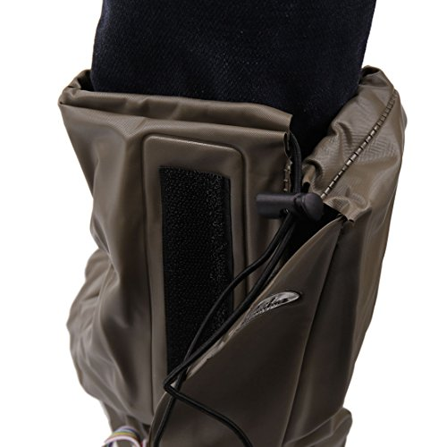 uxcell 1Pair Brown Motorcycle Anti-Slip Waterproof Adjustable Rain Shoes Boot Cover XL by uxcell (Image #4)'