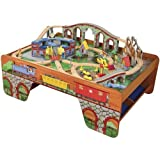 Constructive Playthings KDK-71 Wooden Train Table, Track and Accessories Set, Grade: Kindergarten to 3, 19.5'' Height, 6.25'' Wide, 19.25'' Length
