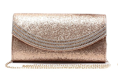 Clutch New Women Diamante Party Evening Clutch For Glitter Bag LeahWard Prom Wedding 1704 Gold Women's 6w5FBB