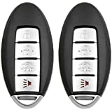 uxcell 2pcs 4 Buttons Uncut Insert Key Fob Remote Control Case Shell Replacement for KR55WK48903 2007-2012 Nissan Altima