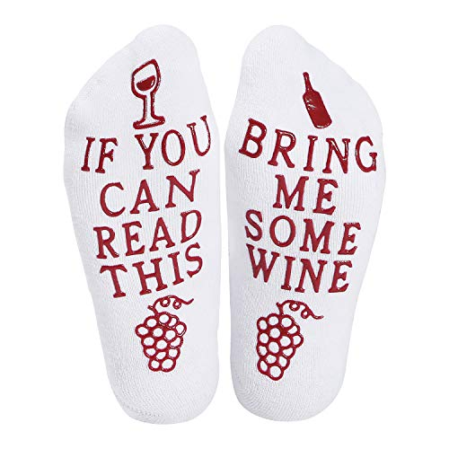 Angel Lover Wine Socks Funny Words If You Can Read This,Cupcake Gift Packaging,Valentines Day,Mothers Day,Christmas Day,Birthday, Women,Mom,Her,Wife,Sister,Friends,Teacher