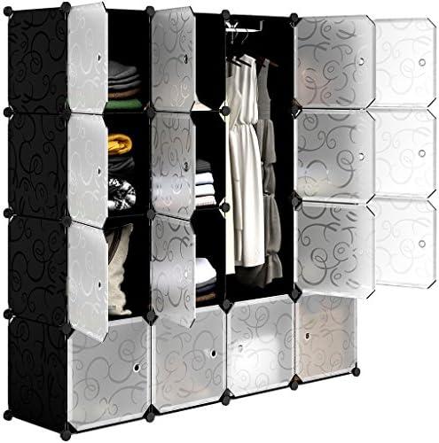 Lagerregale 4 Cube B/ücherregal Schrank Organizer und Lagerung Draht Aufbewahrungsw/ürfel Mehrzweck DIY Lagerung W/ürfel Regal f/ür B/ücher HOMIDEC Cube Steckregal Spielzeug Kleidung