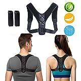 Posture Corrector for Women Men, Comfortable Upper Back Brace Clavicle Support, Prevent and Correct Bad Posture, Relief Shoulder Neck Pain