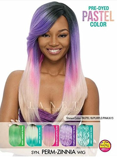 [Janet Collection Synthetic Wig PERM ZINNIA (PASTEL1B/PURPLE/PINK/613)] (Perm Wigs)
