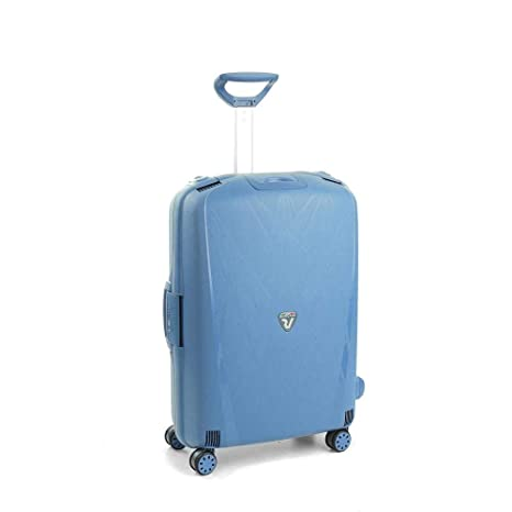 4f6a29652b Roncato Light Trolley Medio - 4 Ruote, 68 Cm, 80 Litri, Blu Avio ...