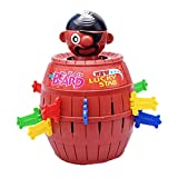 Pop Up Pirate,Axiba 2017 Tricky Pirate Barrels Game Funny Pirate Bucket Toy Party Game for Kids Adult