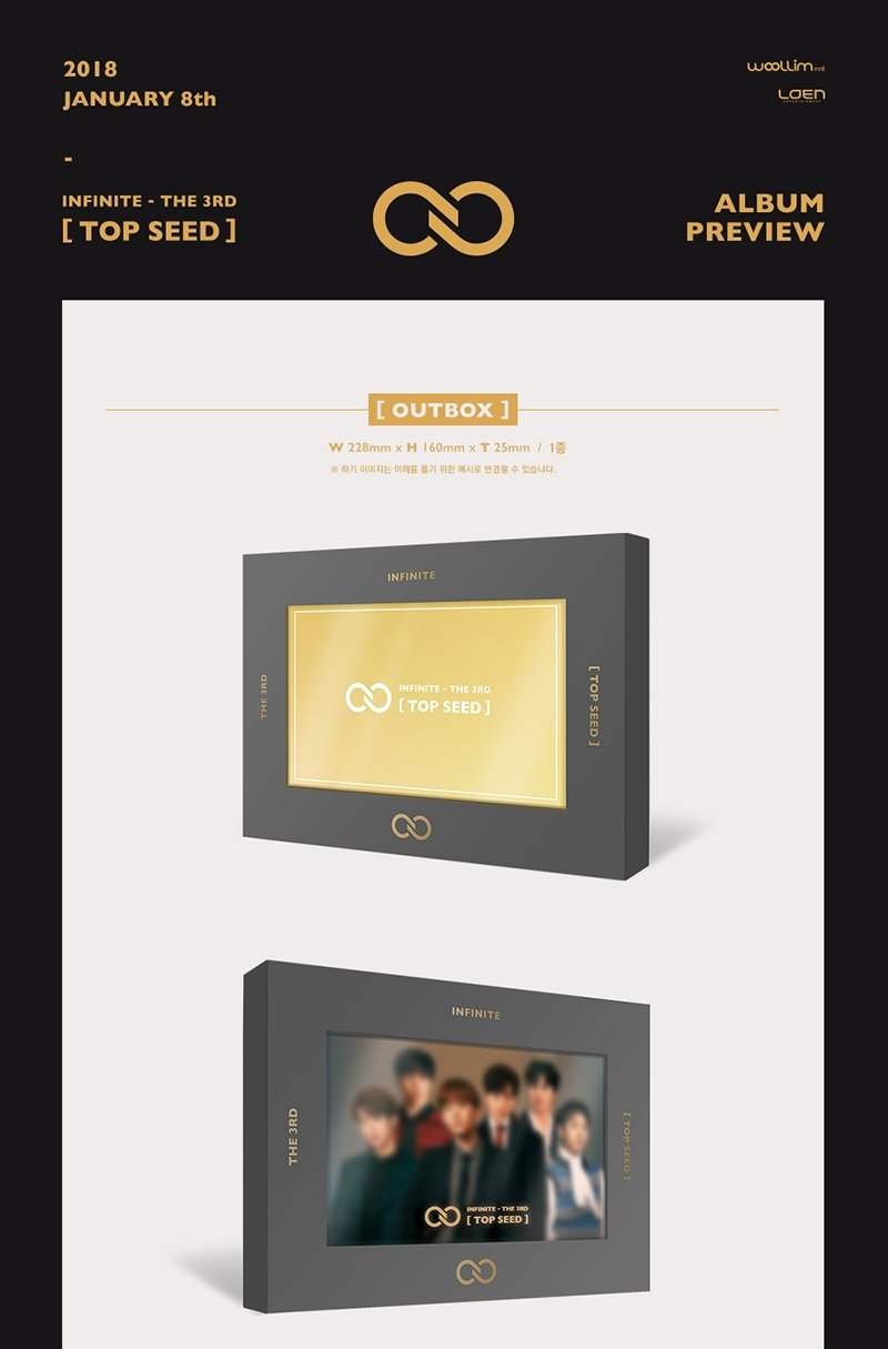 Amazon.com: INFINITE - TOP SEED (Vol.3) CD+Photocard+Postcard+ ...