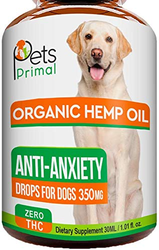 Hemp Oil for Dogs & Cats - Hemp Extract Made in USA - 100% Organic Hemp Oil for Pets - Supports Hip & Joint Health, Natural Joint Pain Relief, Anti Anxiety - Omega 3, 6