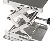 Micro Trader 100Pcs 100mm Stainless Steel Lab Stand Table Scissor Lift Laboratory