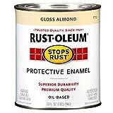 Rust-Oleum 7770502 Protective Enamel Paint Stops Rust, 32-Ounce, Gloss Almond