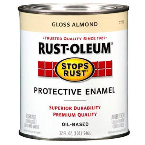Rust-Oleum 7770502 Protective Enamel Paint Stops Rust, 32-Ounce, Gloss Almond (Alkyd Semi Gloss Enamel Paint)