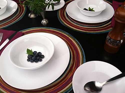 Corelle Livingware 74 Piece Dinnerware Set with Storage Lids, Service for 12, White by Corelle (Image #7)