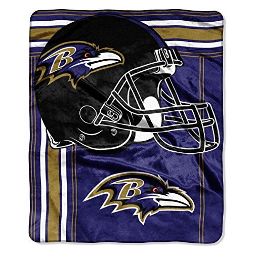 The Northwest Company NFL Baltimore Ravens Touchback Plush Raschel Throw, 50
