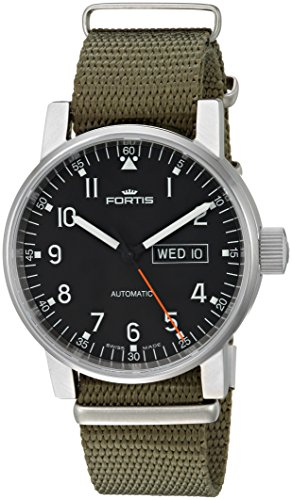 Fortis-Mens-6231071-N11-Spacematic-Pilot-Proffesional-Analog-Display-Automatic-Self-Wind-Green-Watch