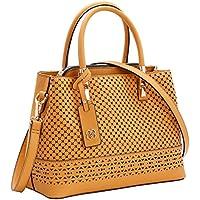 Bolsa Feminina corte e Laser Perfurada Chenson Caramelo 3481785