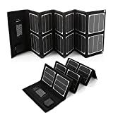 POWERADD [High Efficiency] 40W Solar Panel (5V/USB + 18V/DC) Portable Foldable Sunpower Solar Charger for Apple Samsung GPS Gopro Notebooks Laptops Powerhouse, ChargerCenter and More