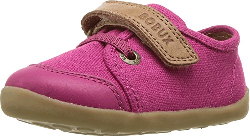 Bobux Kids Baby Girl's Step Up Classic Leisure (Infant/Toddler) Fuchsia/Caramel Shoe (Footwear Fuchsia Toddler Canvas)