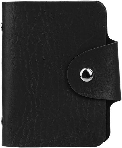 SimpleLif Genuine Leather Credit Card Holder Women Men Wallet Pocket ID Business Card Case Purse 24 Card Slots