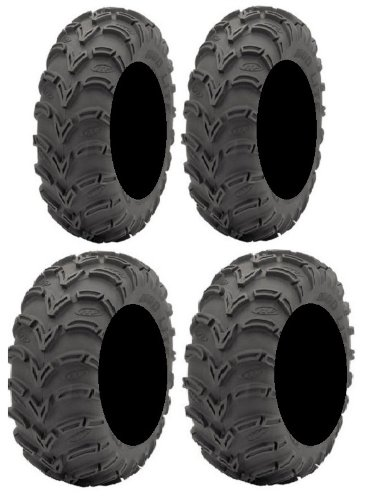 Full set of ITP Mud Lite (6ply) 25x8-12 and 25x10-12 ATV Tires (2) (Best Atv Tires For Trail Riding)