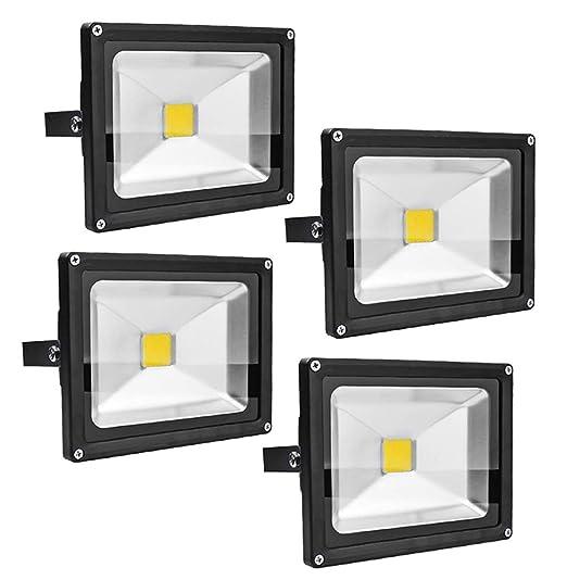 Leetop 4X 20W 30W 10W Negro Blanco Cálido Foco Proyector LED ...