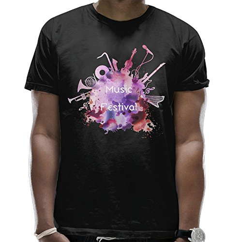 CAS TEES Music Festival Tie Dye Mens Crew Neck T Shirt Short Sleeve Tops