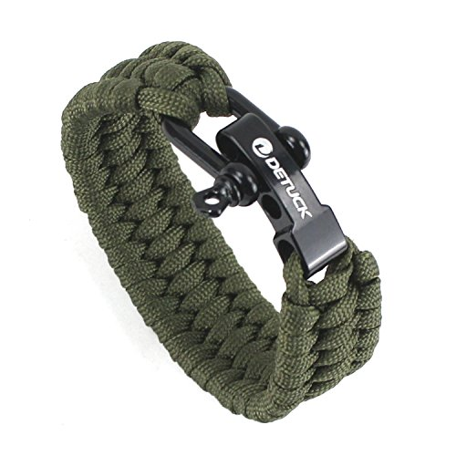 DETUCK Survival Bracelet Adjustable Paracord