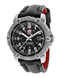 Men's Modern Mariner Black Dial Black Genuine Leather