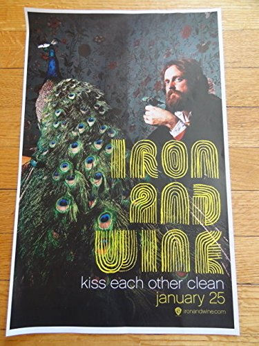 Iron & Wine Kiss Each Other Clean Promotional Poster