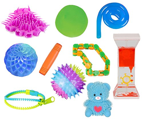 - LightShine Products 10 Piece Sensory Fidget Toy Bundle Pack For Kids at Home or in School Classroom