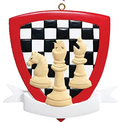 Christmas Board Games 2019.Personalized Chess Christmas Tree Ornament 2019 Checkered Board Champion Player Love Holiday Game King Checkmate Grandpa Park Retired Champion