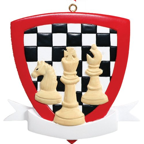 Personalized Chess Christmas Tree Ornament 2019 - Checkered Board Champion Player Love Holiday Game King Checkmate Grandpa Park Retired Champion - Free Customization