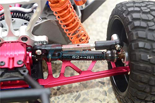 Traxxas Slash 4X4 Upgrade Parts Harden Steel #45 Rear CVD Drive Shaft with 12Mmx6Mm Wheel Hex 1Pr Set Black