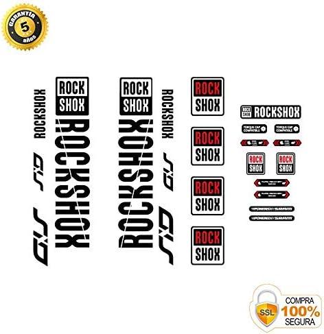 Pegatinas Horquilla para Bicicleta Modelo Bike Rock Shox SID vinilos Modelo 2 Negro 29