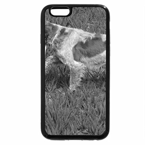 iPhone 6S Plus Case, iPhone 6 Plus Case (Black & White) - Sniffing Dog