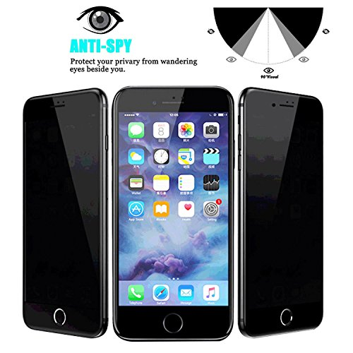 the simple - Blue Light Filter Privacy Protective Screen Protector for Apple iPhone 8 / iPhone 8 Plus [UV Block] 9H Hardness Premium Tempered Glass Privacy Film Guard Peep-Proof (iPhone 8) ()