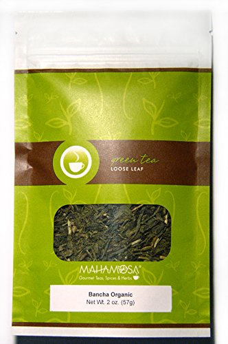 Mahamosa Bancha Organic 2 oz, Japan (Japanese) Loose Leaf Green Tea (Looseleaf) (Bancha Green Tea)