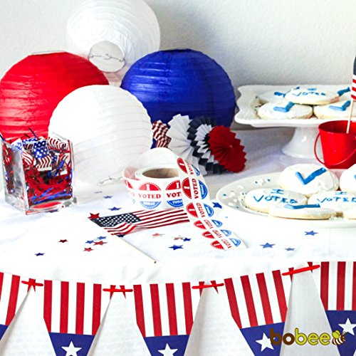 Bobee-Red-White-and-Blue-Paper-Lanterns-Party-Decorations ...
